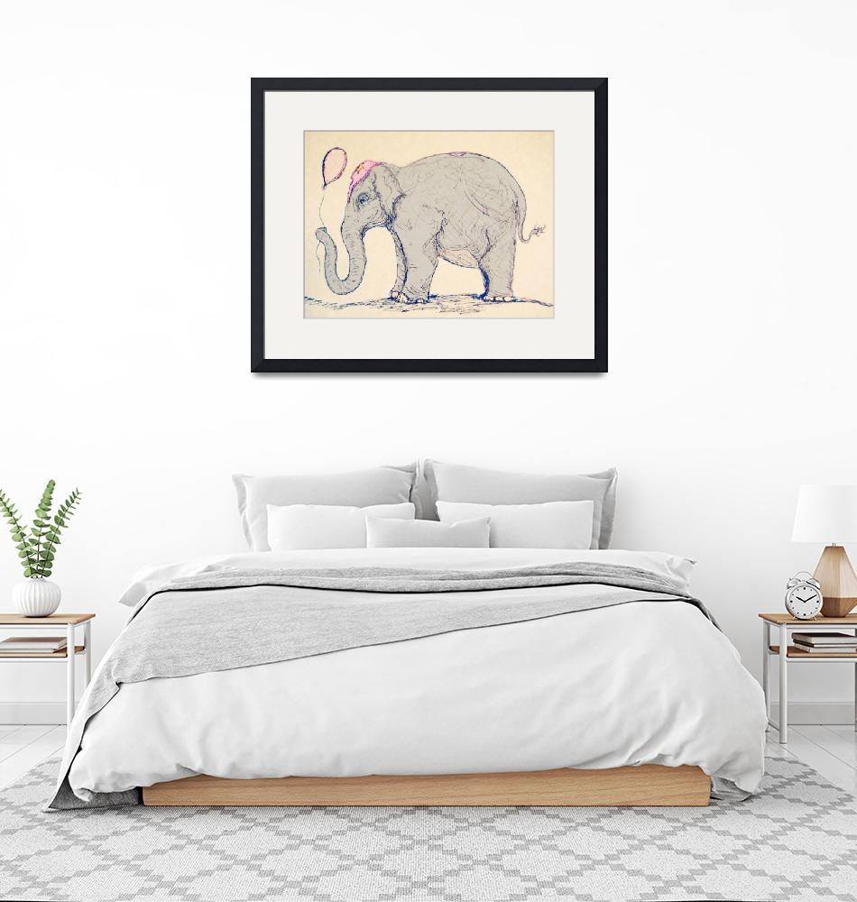 """""""Elephant in the Circus""""  (2013) by MyraIllustrations"""