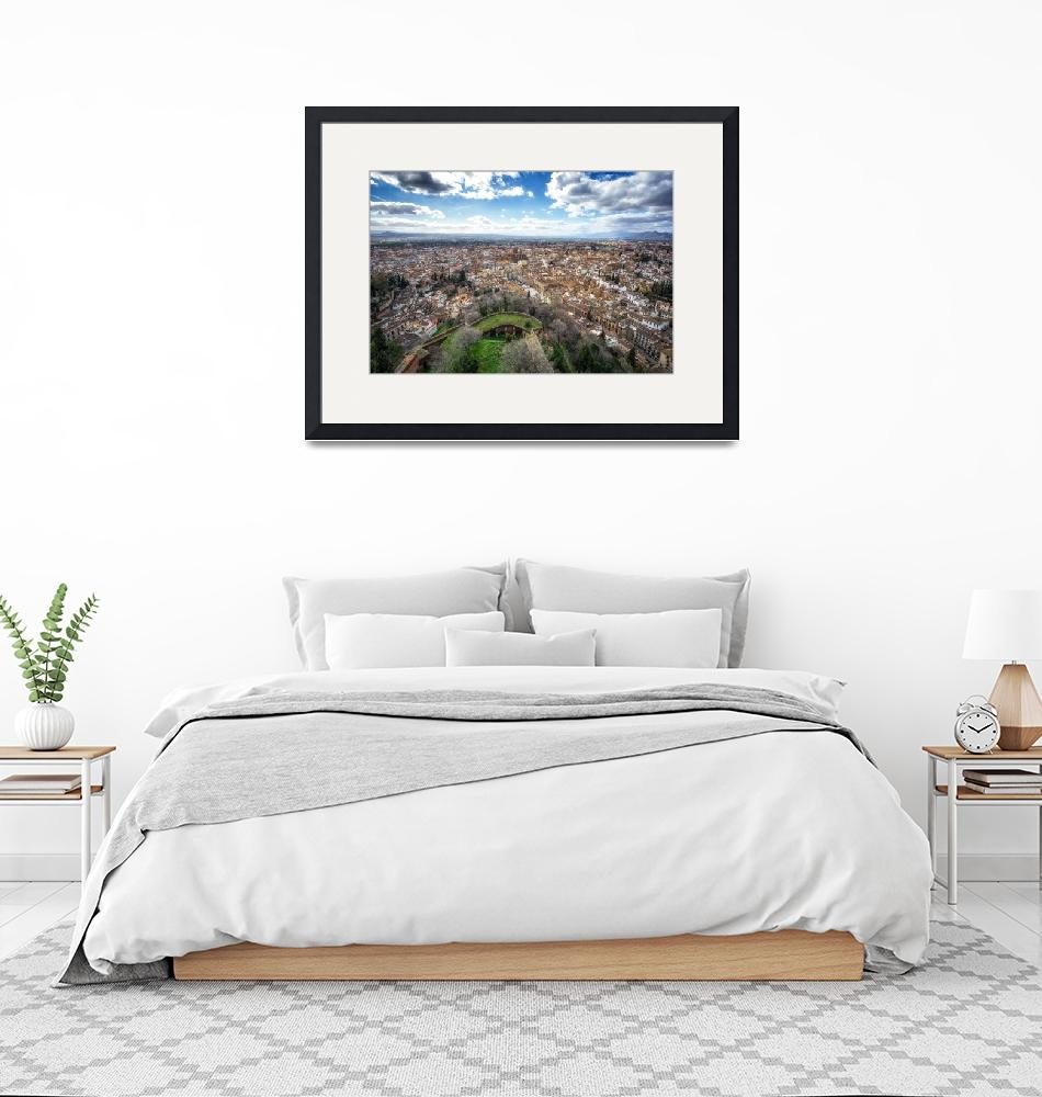 """""""Granada viewed from Alhambra""""  (2018) by aaronchoi"""