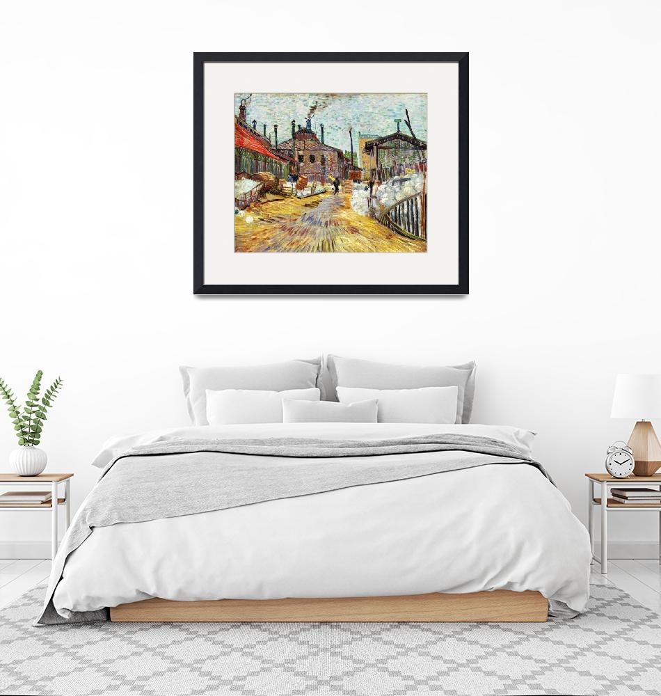 """""""The Factory by Vincent Van Gogh""""  by FineArtClassics"""