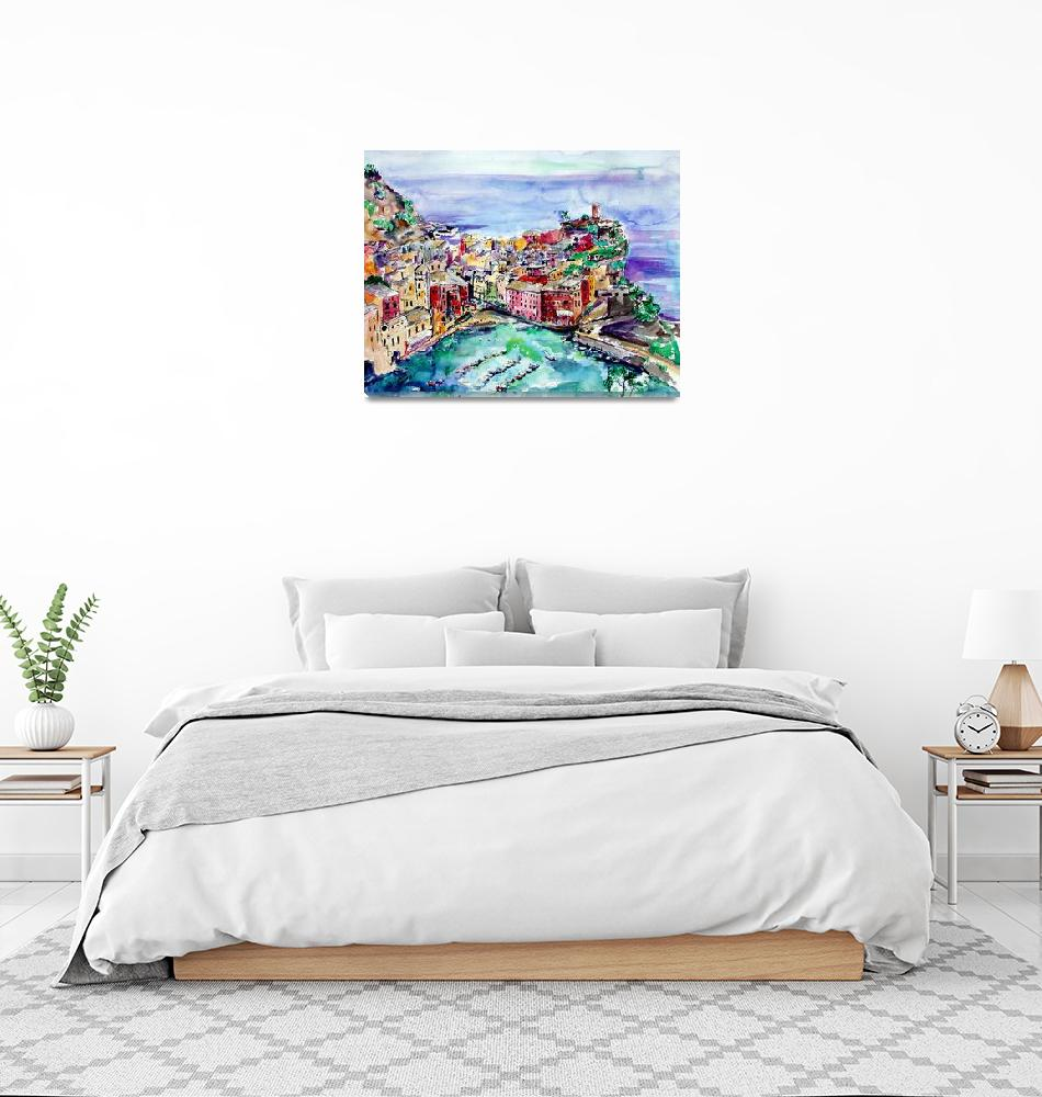 """""""Vernazza Italy Cinque Terre Painting by Ginette""""  (2003) by GinetteCallaway"""
