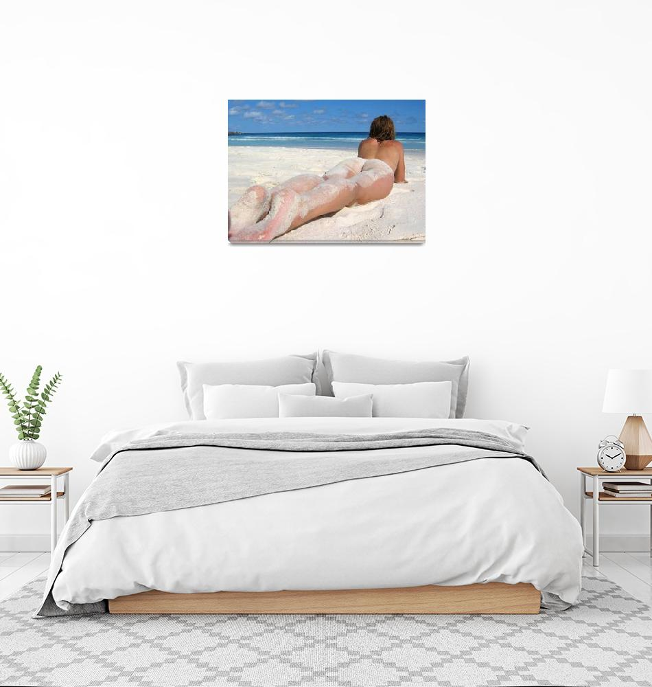 """""""Long legs on the beach""""  (2005) by NUDE"""