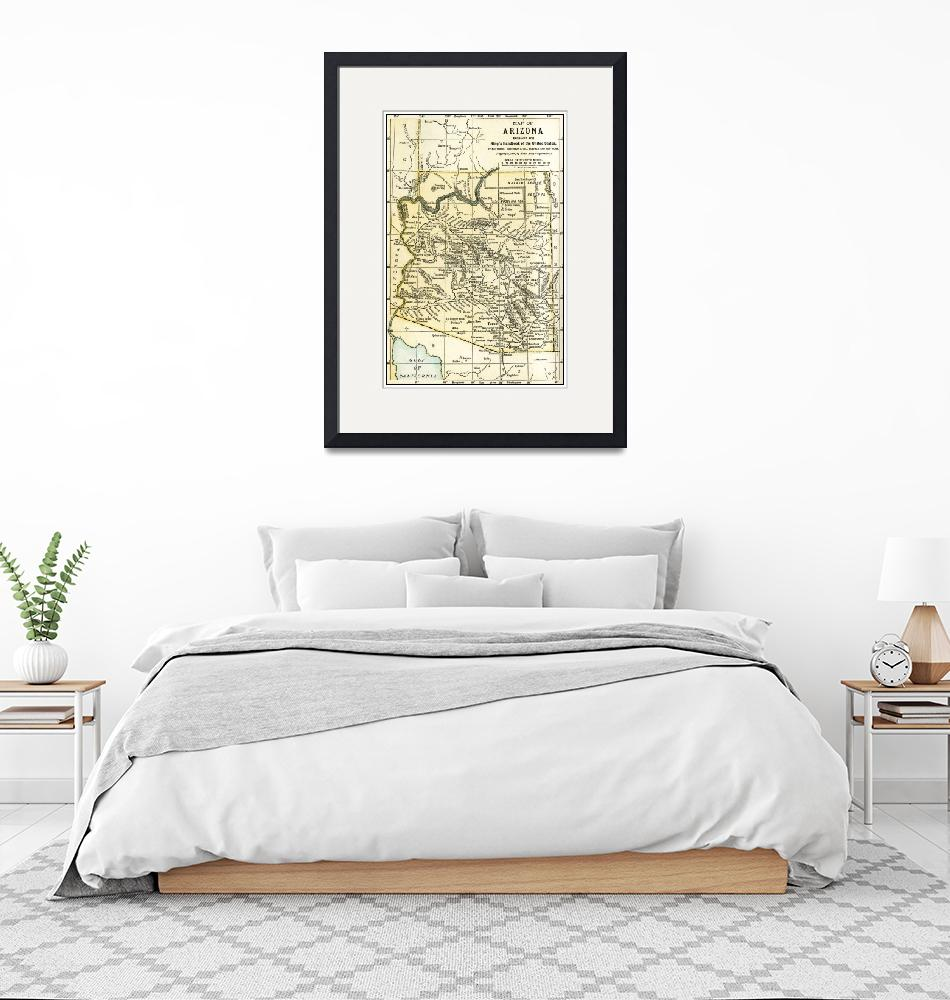 """Arizona Teritory Antique Map 1891""  (2015) by WilshireImages"