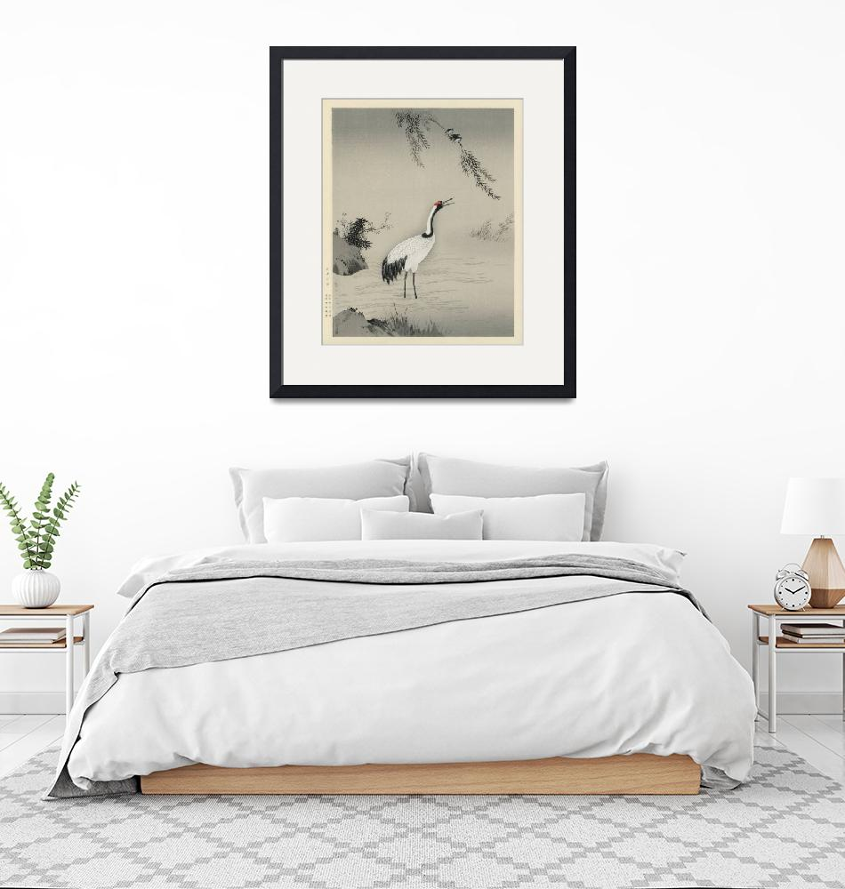 """Japanese Crane by Kano Motonobu""  by FineArtClassics"