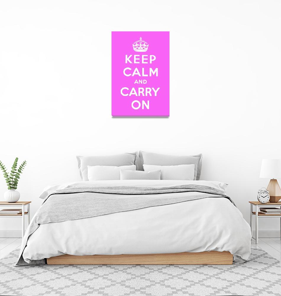"""""""Purple Keep Calm And Carry On 9""""  by oldies"""