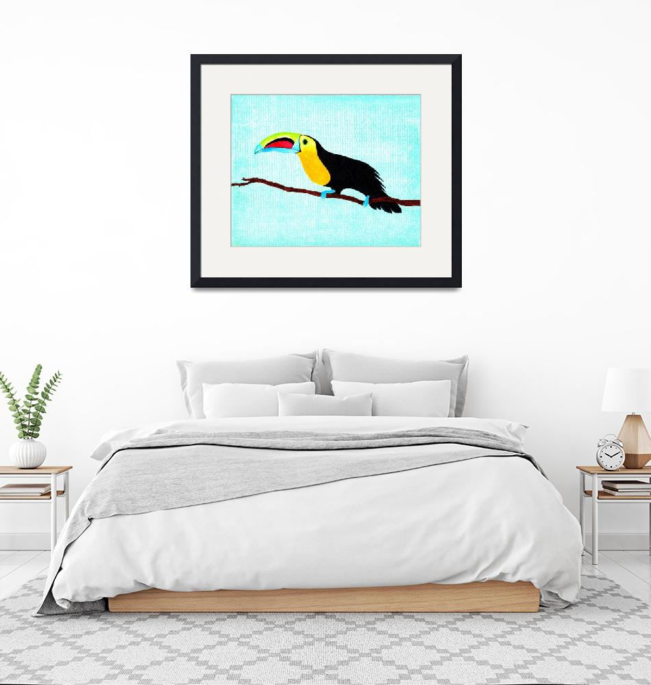 """Toucan at rest""  (2013) by LimeCreekArt"