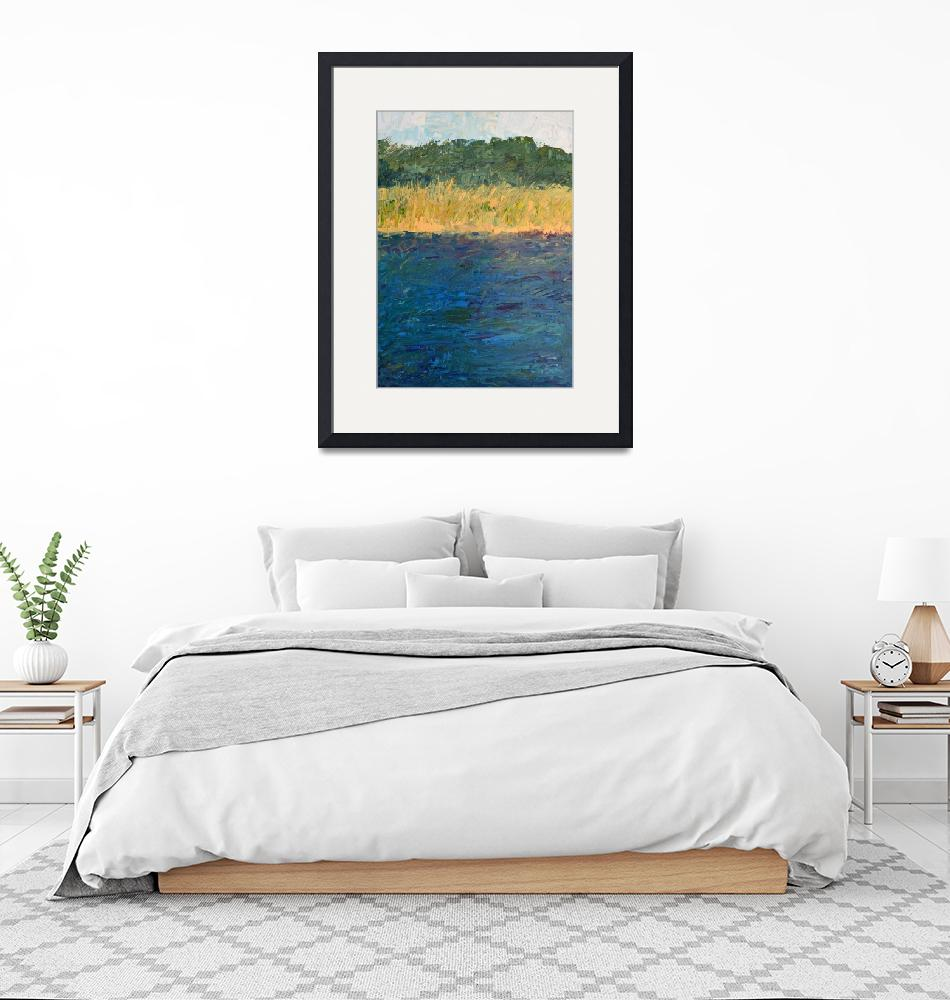 """""""Lake Michigan Shoreline with Dunes and Grasses""""  (2019) by Michelle1991"""