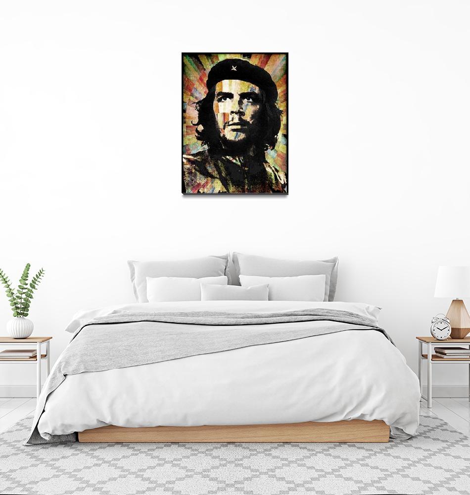 """Che Guevara Revolution Gold""  by RubinoFineArt"