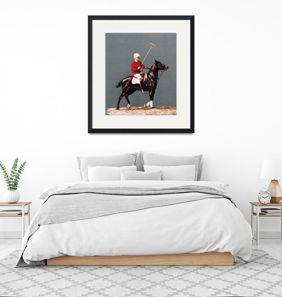 """Polo Pony (horse) painting""  by AnimalsbyDiDi"