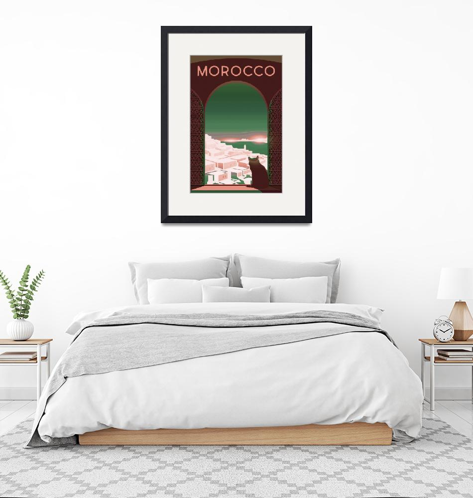 """""""Travel Poster of Morocco 193""""  by Arpina"""