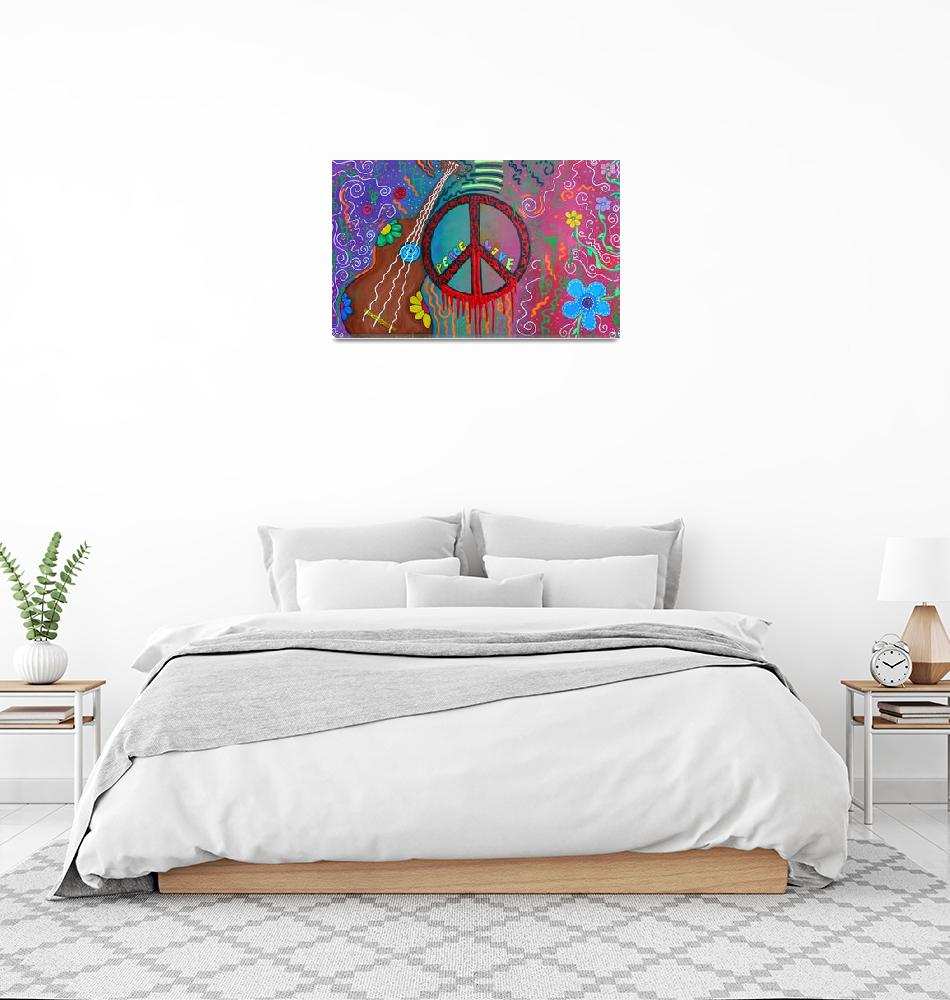 """""""Peace and Love 2""""  (2011) by ArtPrints"""