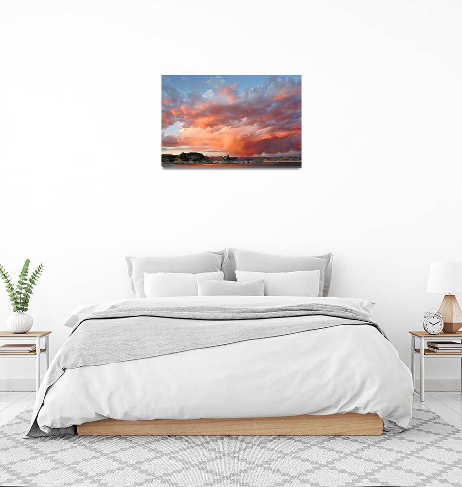 """Sunset Over Lake Powell (Panorama)""  (2007) by pbk"