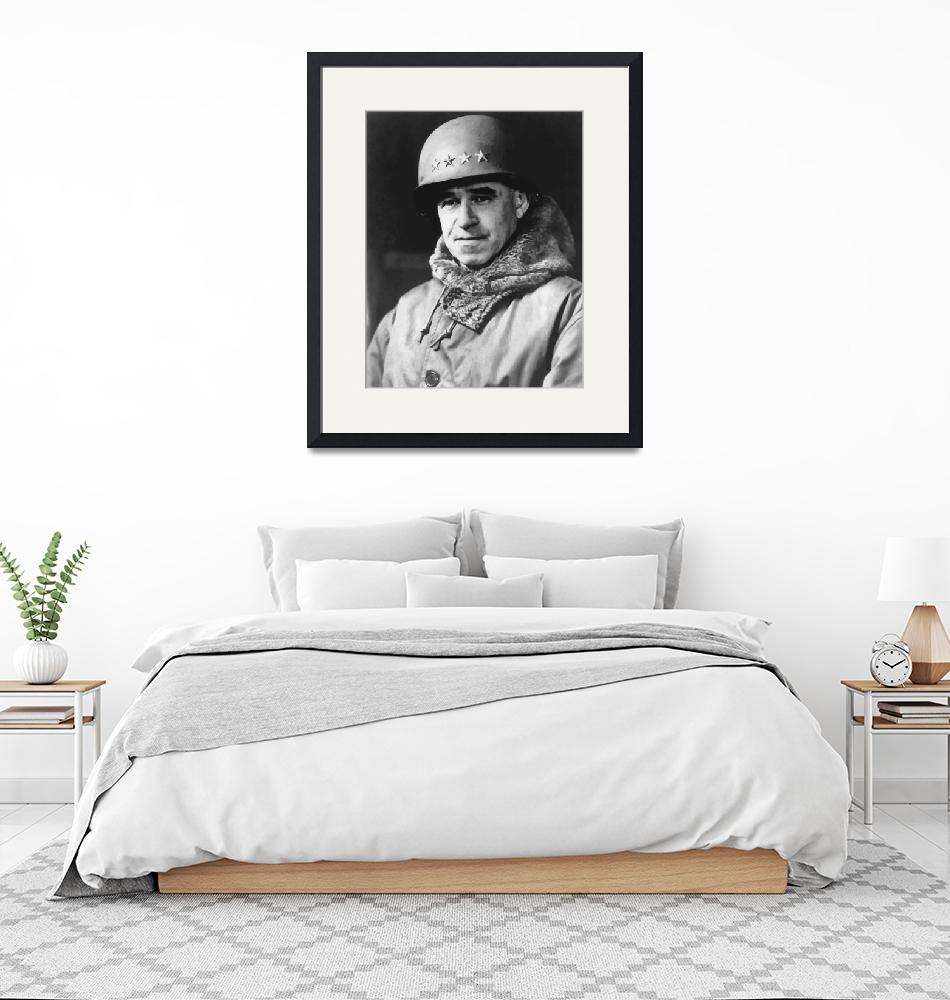 """Digitally restored vector portrait of Omar Bradley""  by stocktrekimages"