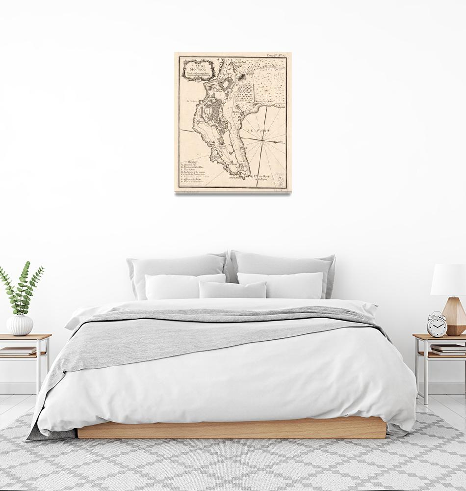 """Vintage Map of Monaco France (1764)""  by Alleycatshirts"