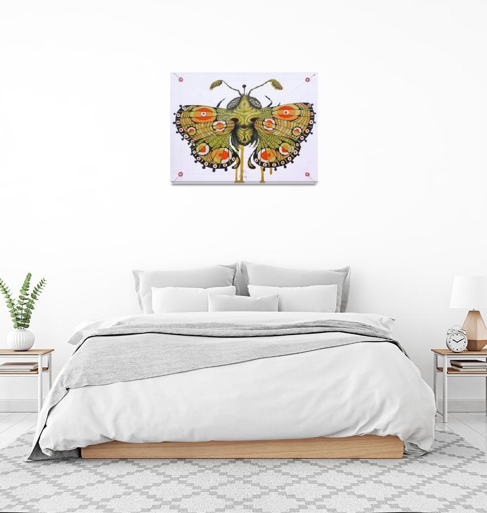 """Moth (original sold)""  (2014) by federicocortese"