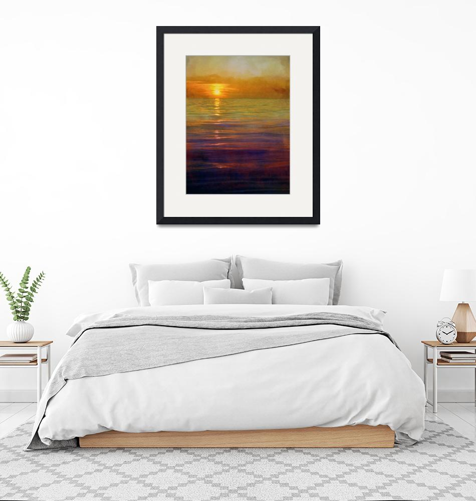 """""""Great Lakes Setting Sun""""  (2017) by Michelle1991"""
