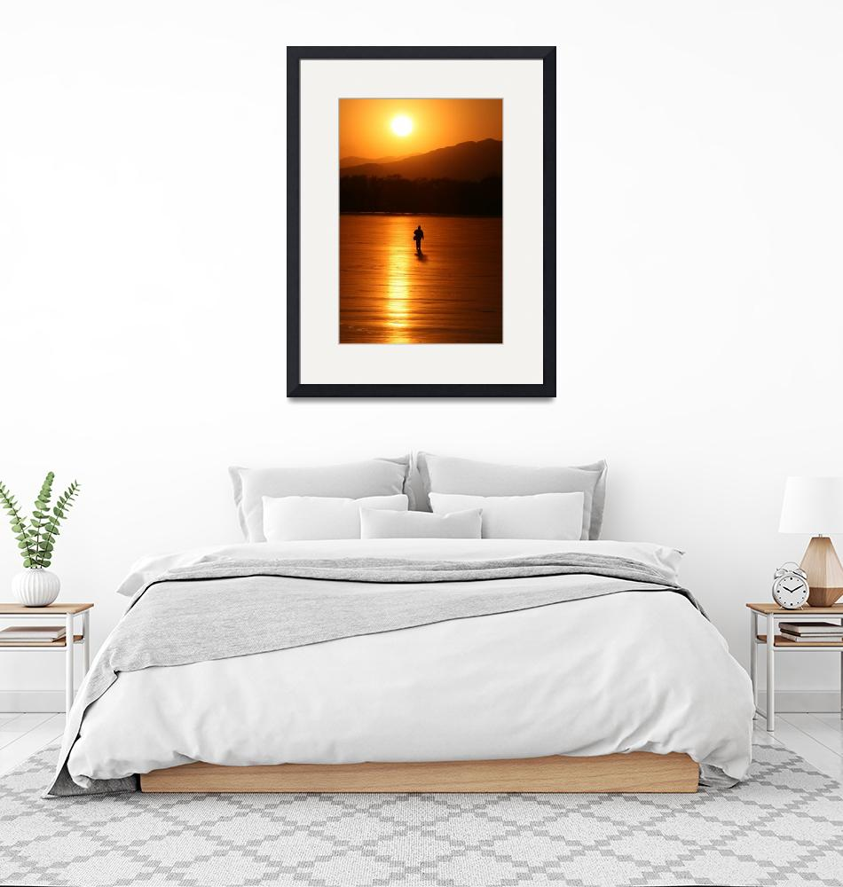 """""""Sunset on the ice""""  (2009) by dcrawford"""