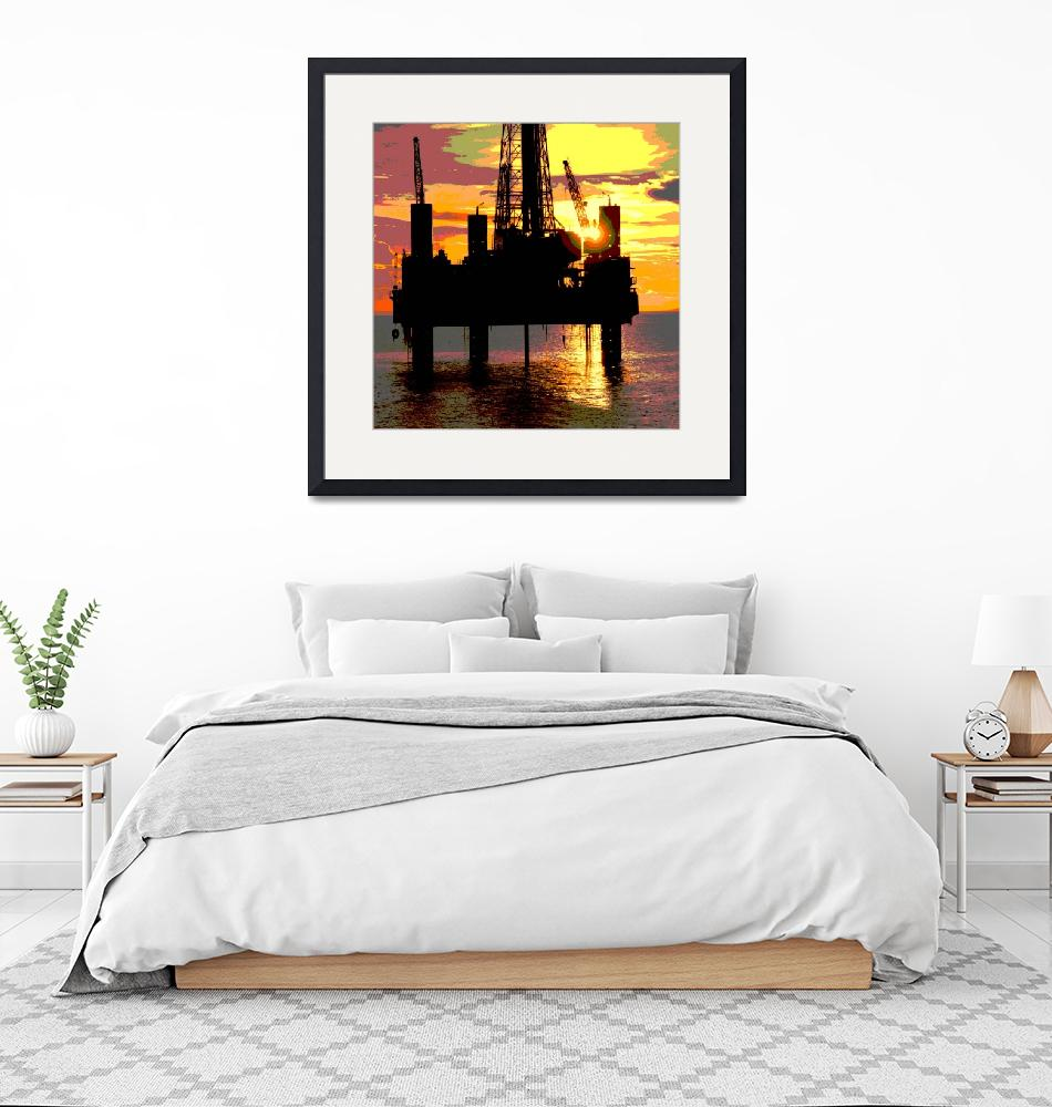 """Drilling Rig, Urban Industrial Art""  (2015) by Tulsa1000"