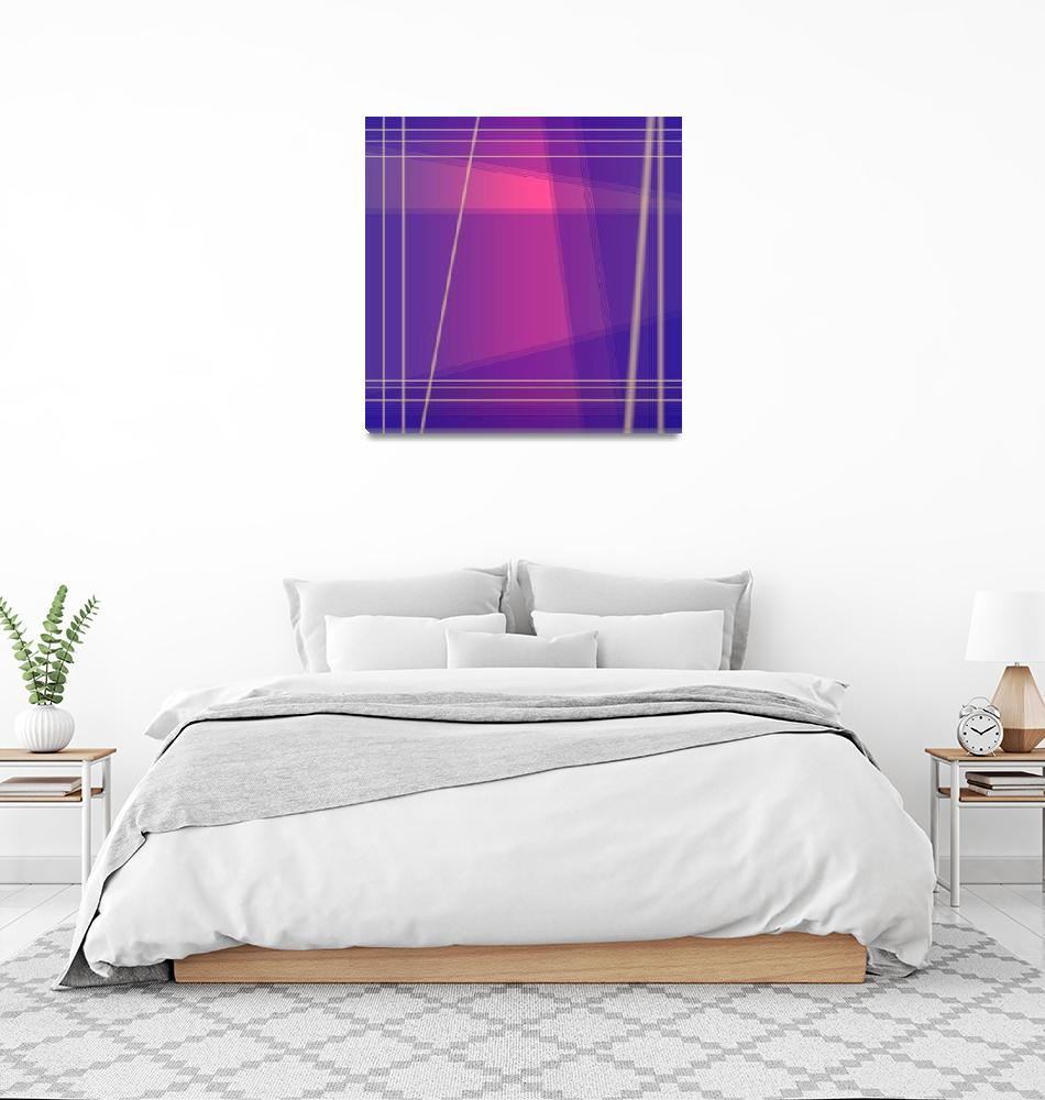 """Fun with Colors Abstract Crossing Lines 2""  (2019) by JennyRainbow"