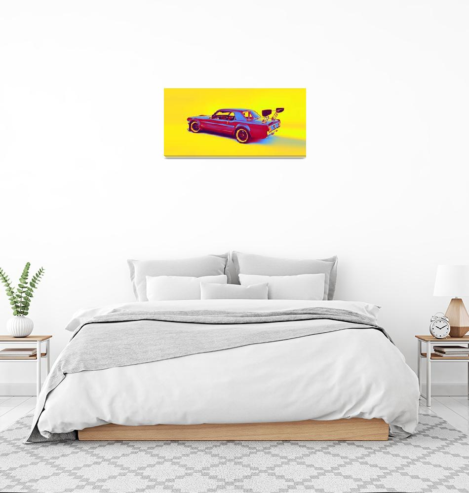 """""""1966 Ford Mustang gradient neon coloring by Ahmet""""  by motionage"""