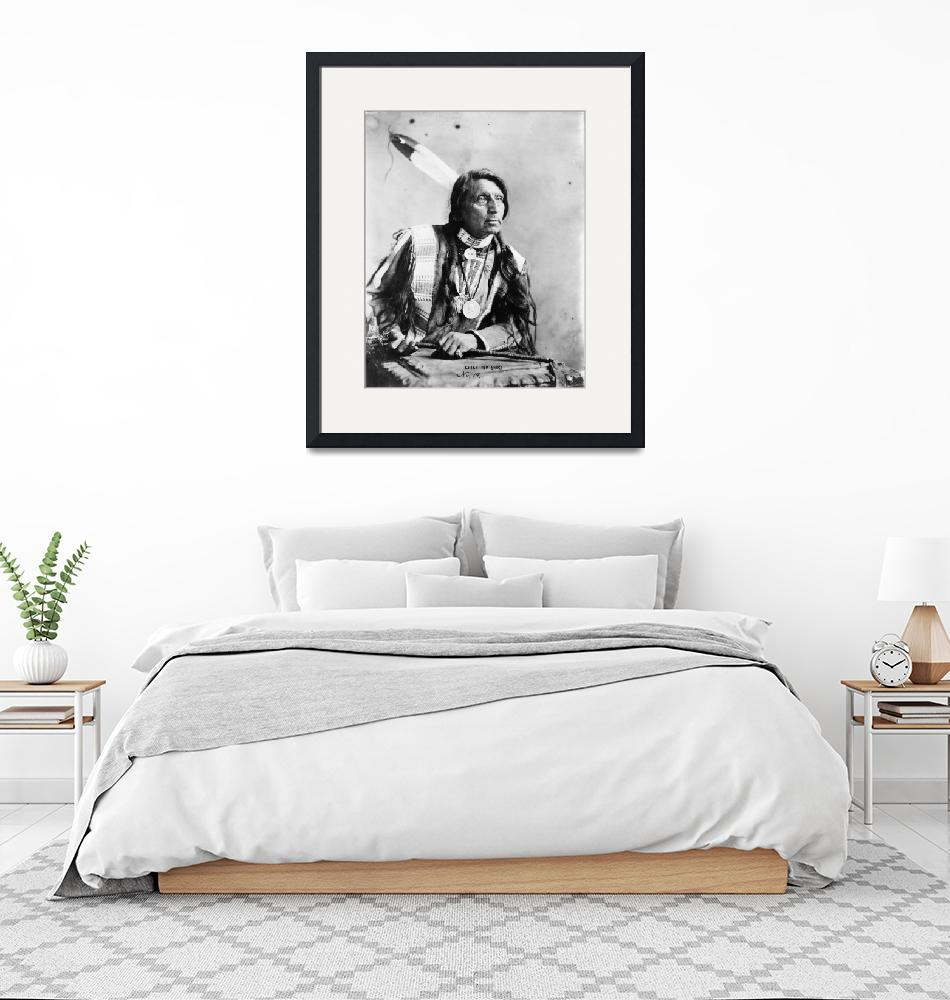 """Vintage Chief Red Shirt Native American Photograph""  by PDGraphics"