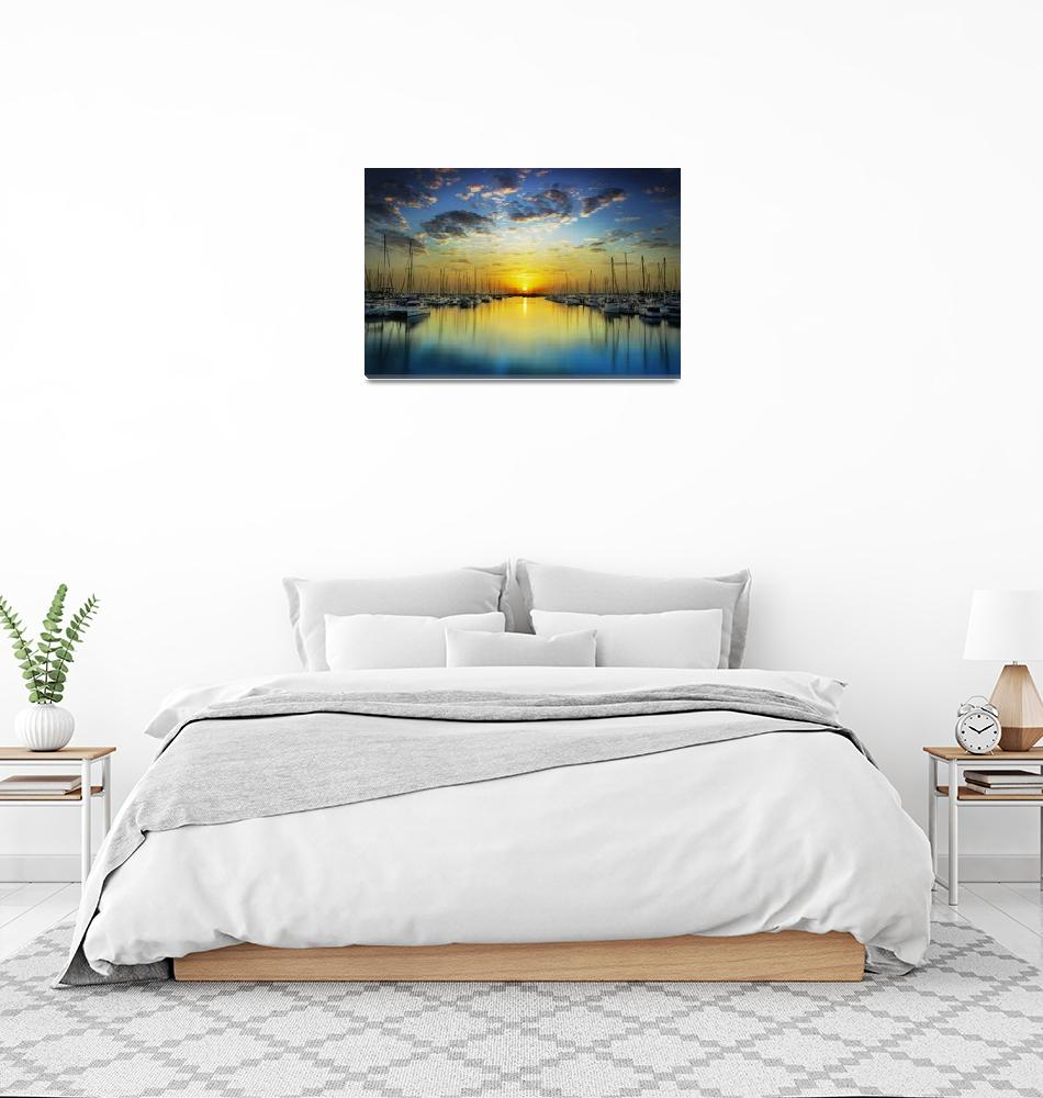 """Harbour Dawn""  (2008) by benryan"