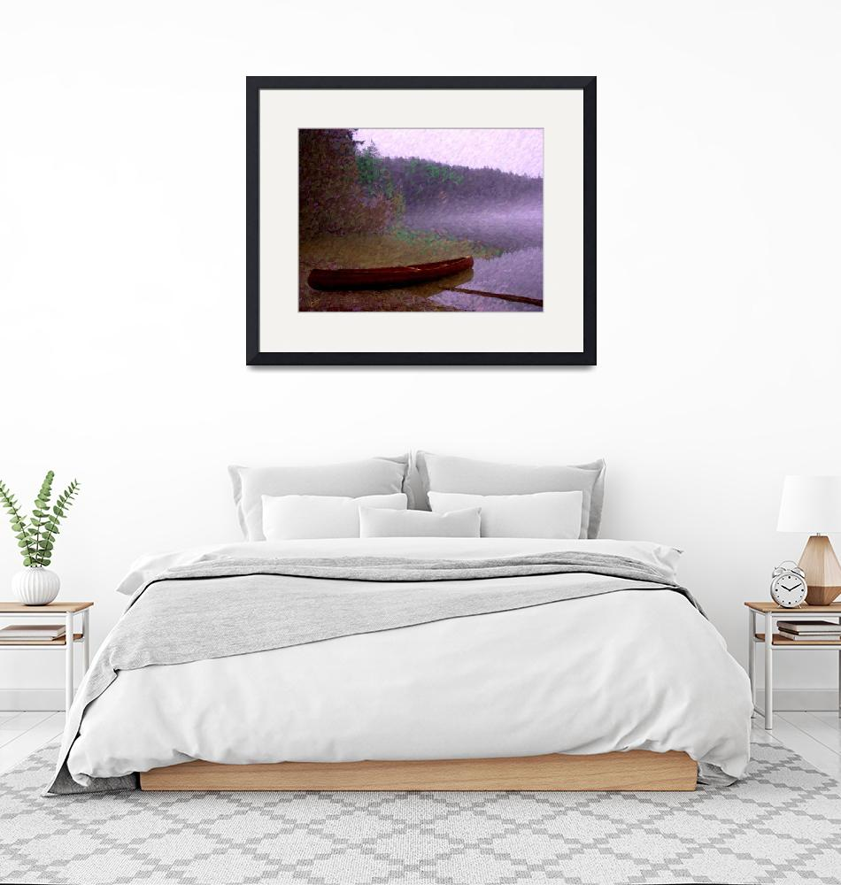 """Pass Lake Canoe Painting""  by gopnw"