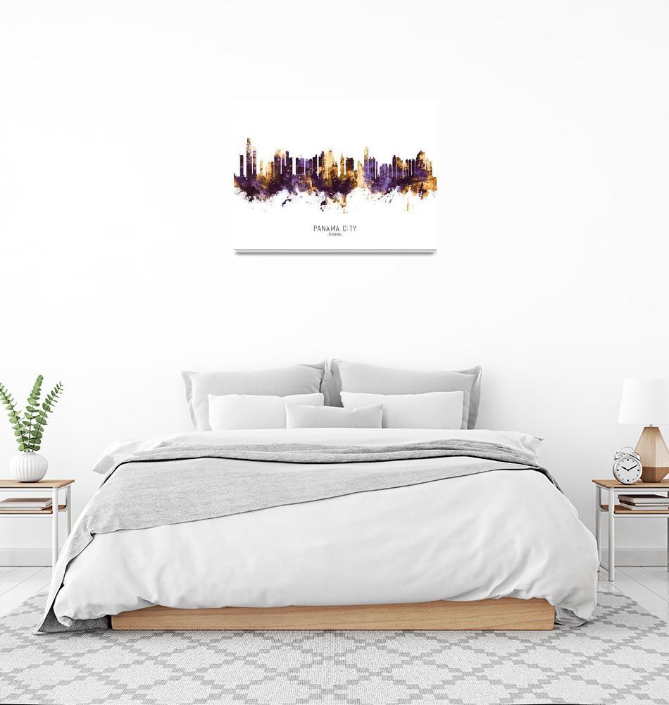 """""""Panama City Skyline""""  (2019) by ModernArtPrints"""