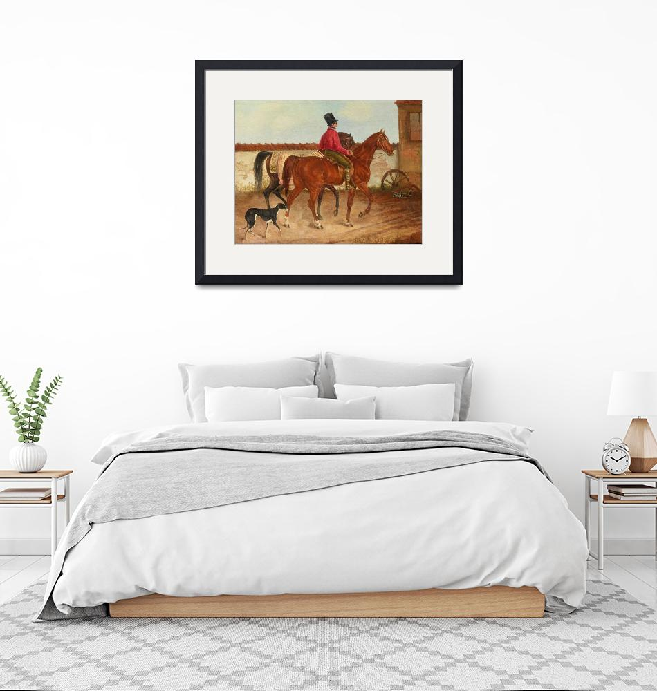"""""""Franz Krüger~Leading horse riders and dog (after F""""  by Old_master"""