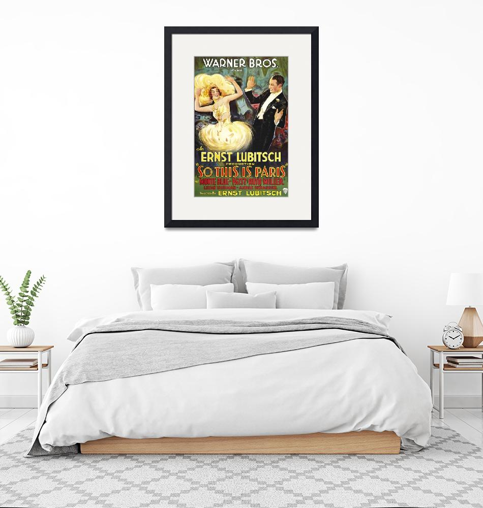 """""""So This is Paris Vintage Movie Poster""""  by FineArtClassics"""