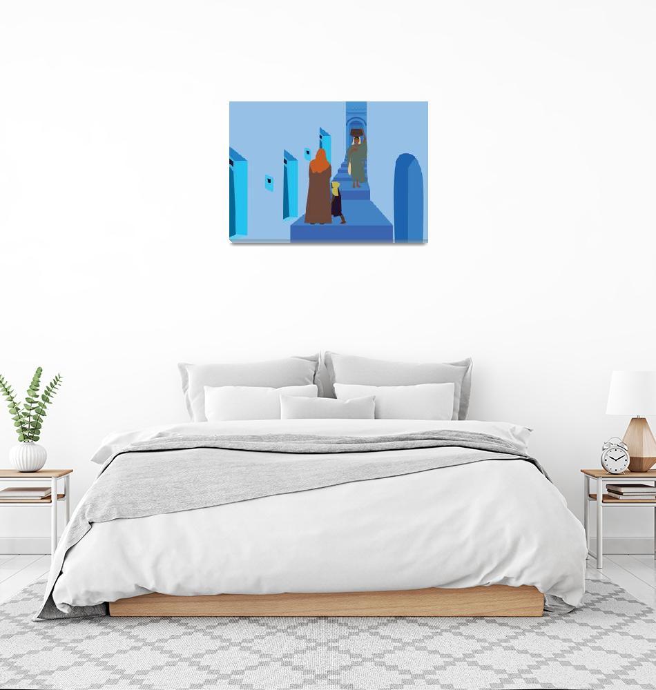 """Blue City in Morocco""  by Design4uStudio"