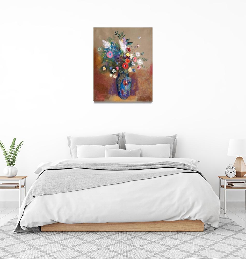 """Bouquet of Flowers by Odilon Redon""  by FineArtClassics"