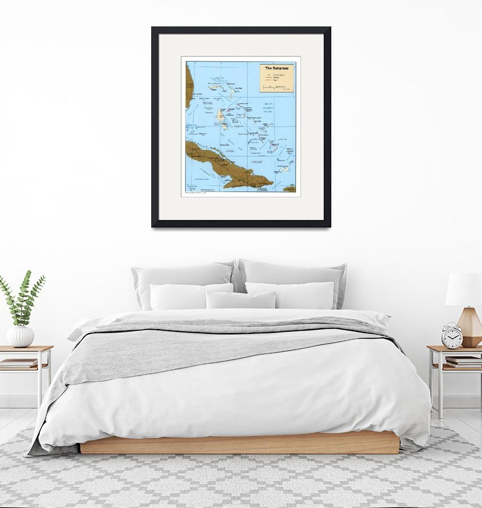 """""""Map of The Bahamas (1986)""""  by Alleycatshirts"""