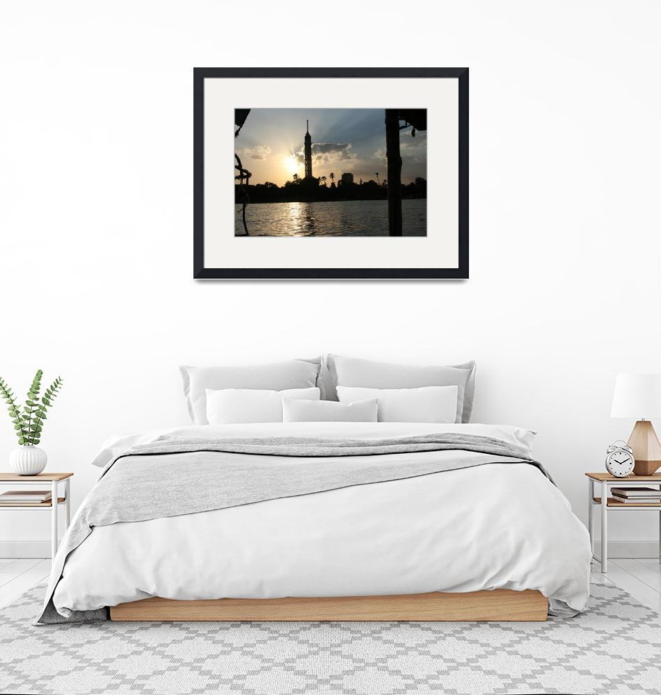 """""""Cairo from the river at sunset""""  (2008) by CarrieWaters"""