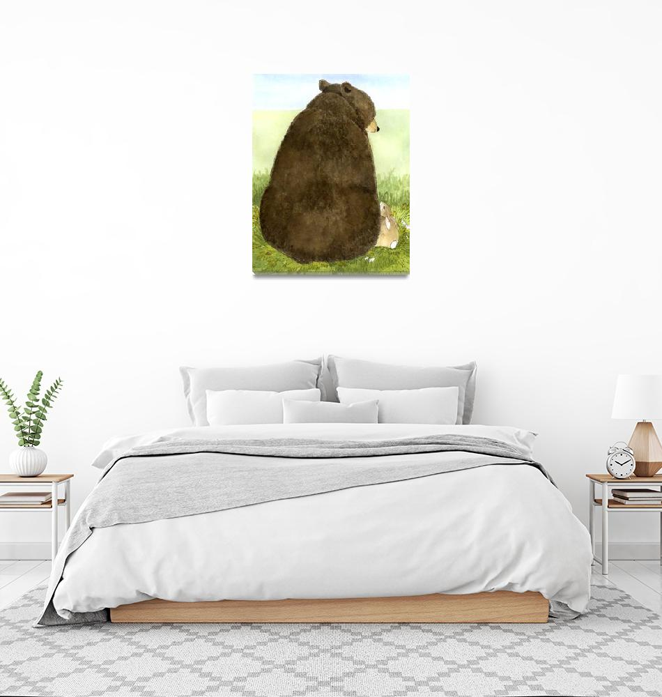 """Big Bear Little Bunny""  (2010) by wingedrabbit"