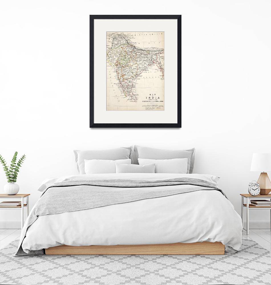 """""""Antique Map of India""""  by fineartmasters"""