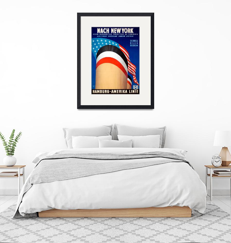 """""""Vintage New York Cruise Ocean Liner Travel""""  by PDGraphics"""