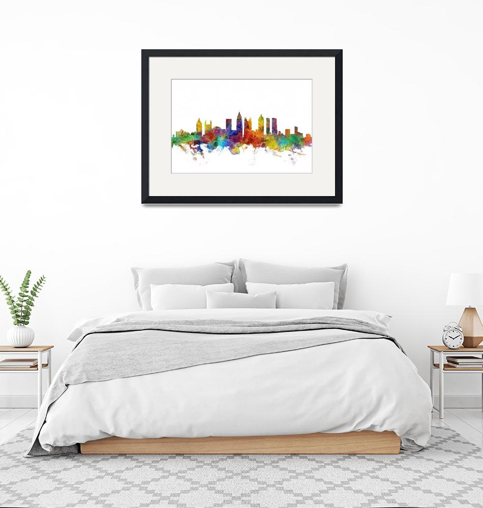 """Atlanta Georgia Skyline""  (2018) by ModernArtPrints"