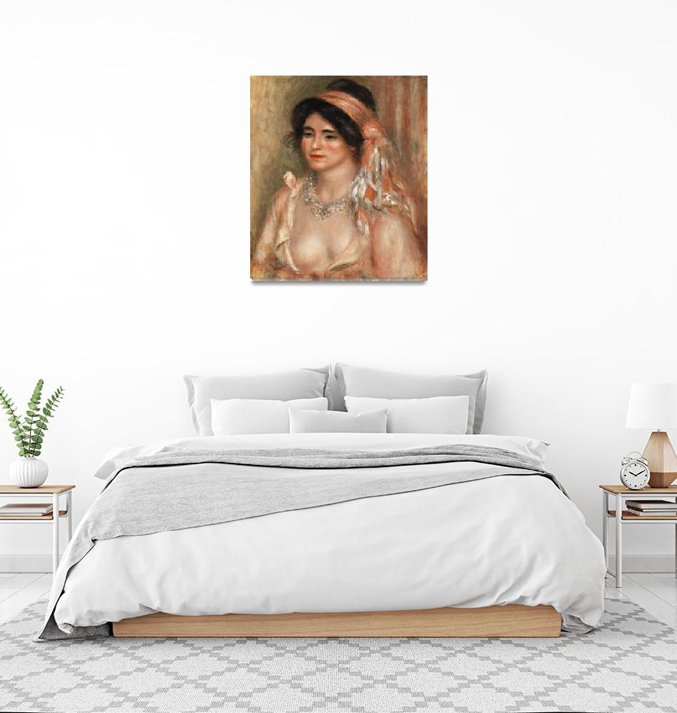 """Woman with Black Hair by Renoir""  by FineArtClassics"