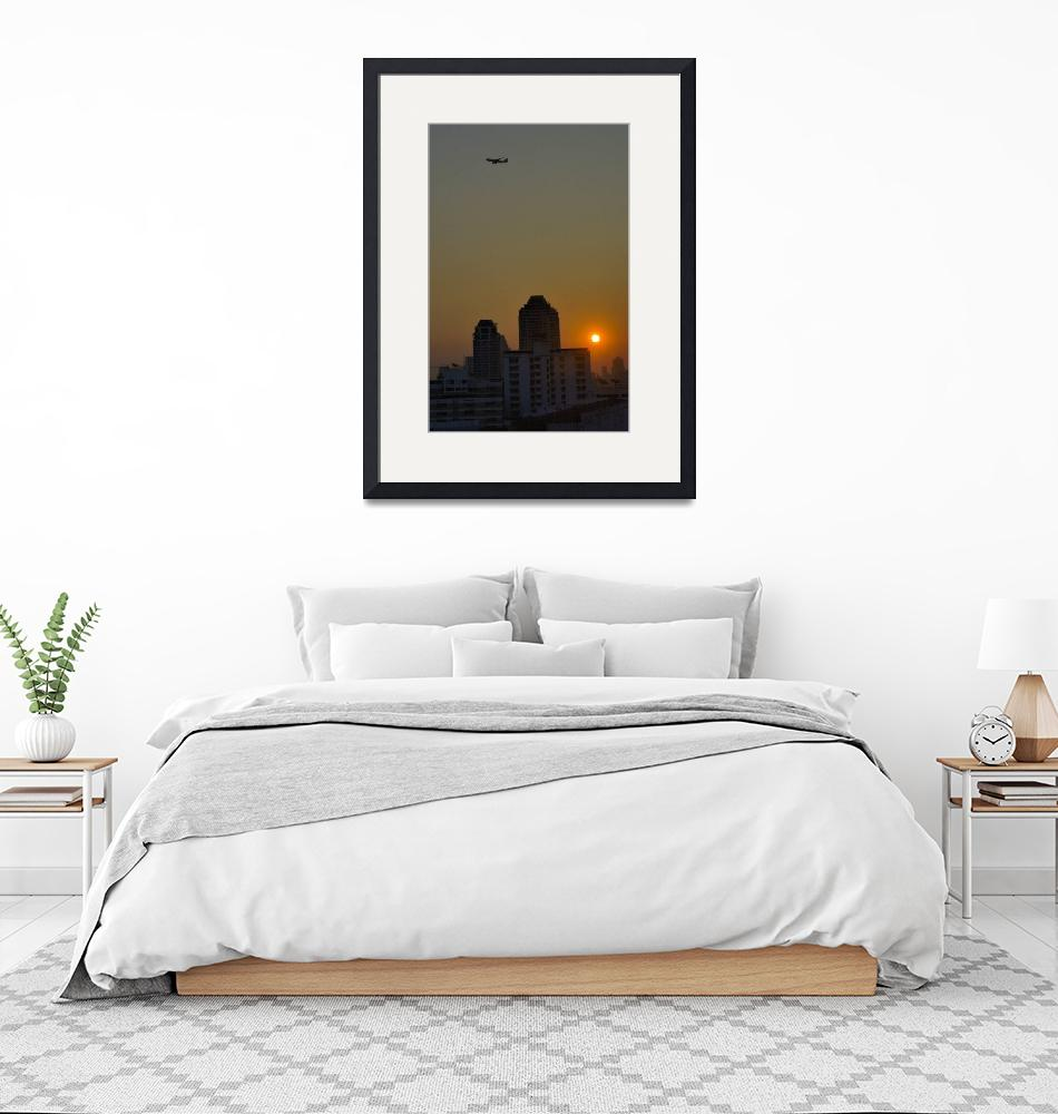 """""""Sun Raising Over the City of Angels""""  (2003) by JoaoPonces"""