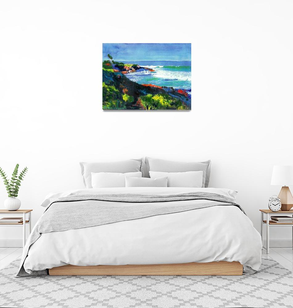 """La Jolla Cove looking west by RD Riccoboni""  (2006) by RDRiccoboni"