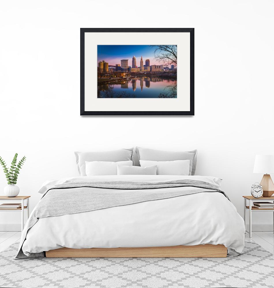 """""""Cleveland River Reflection at Sunrise by Cody York""""  (2017) by cyorkphoto"""
