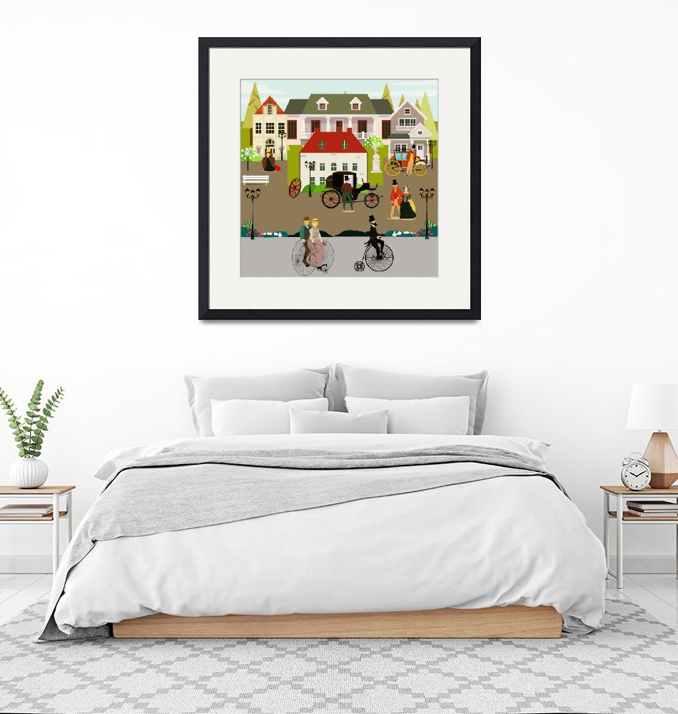 """""""A street in the 19th century 1"""" by Design4uStudio"""