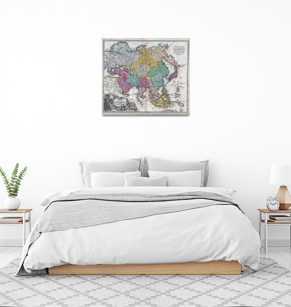 """Map of Asia 1730 Homann""  by FineArtClassics"