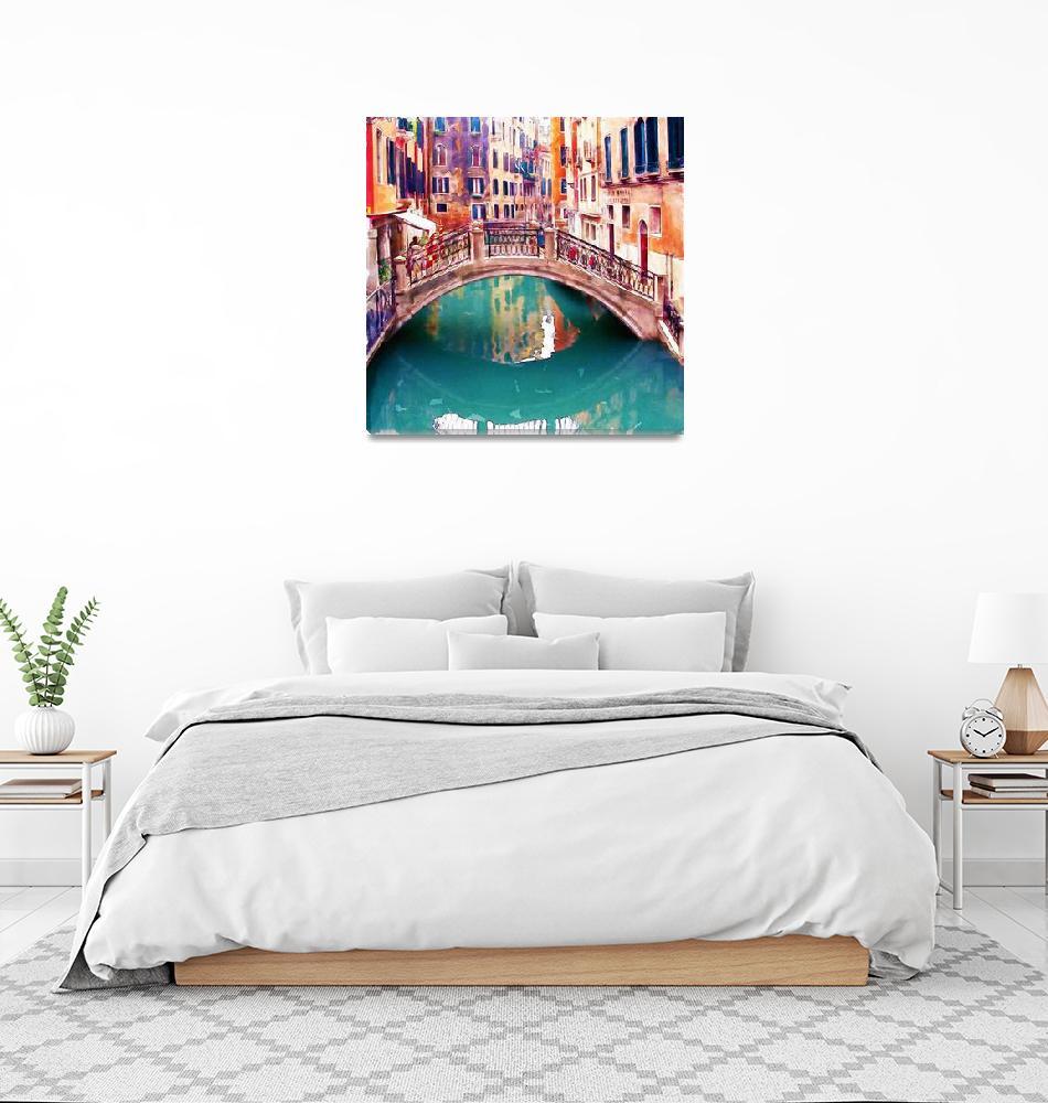 """""""Small Bridge in Venice""""  (2015) by MarianVoicu"""