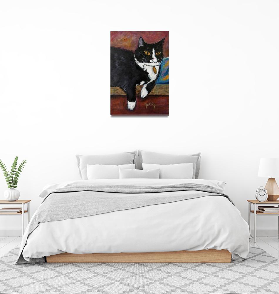 """Spunky the Cat""  (2012) by paintingsbygretzky"