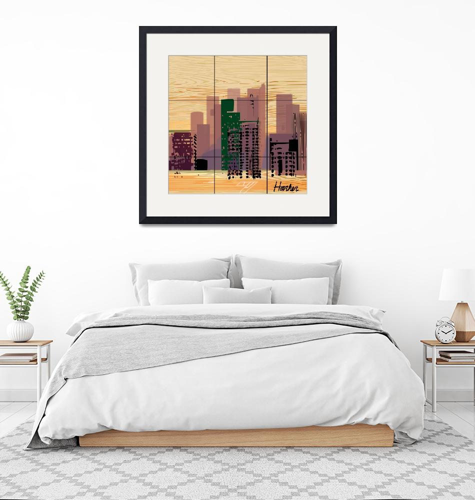 """""""Downtown Square""""  (2018) by charker"""