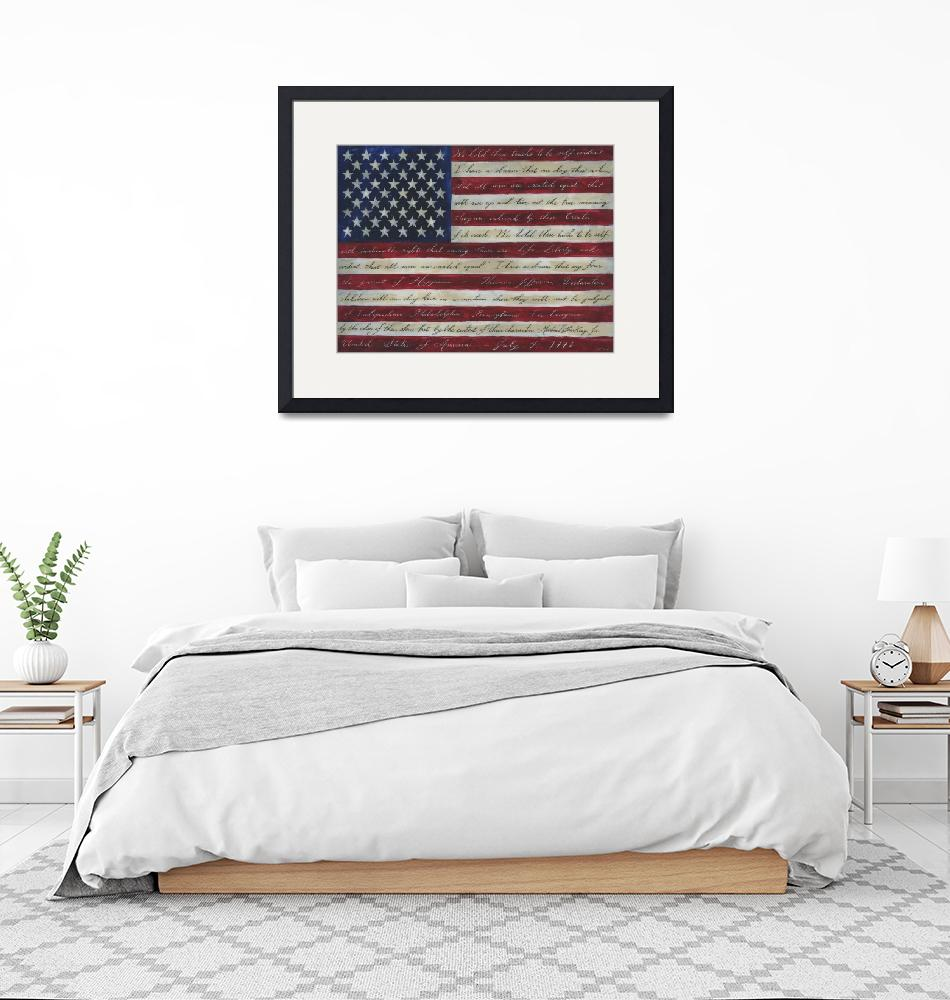 """""""American Flag I Have a Dream II""""  (2013) by HandwrittenLife"""