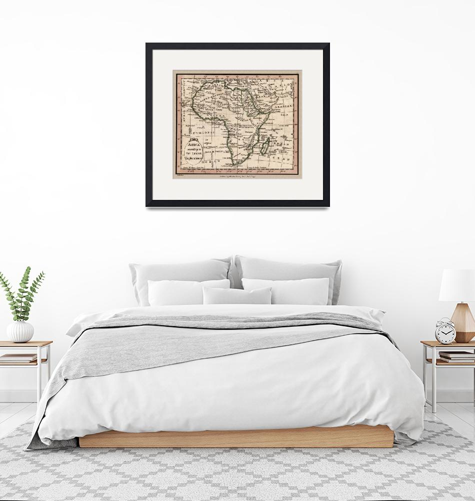 """Africa Antique Map 1798""  (2020) by WilshireImages"