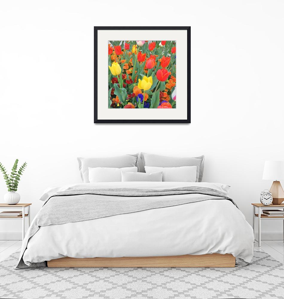 """""""Primary Colours Flower Immersion""""  (2018) by LifeARTitect"""