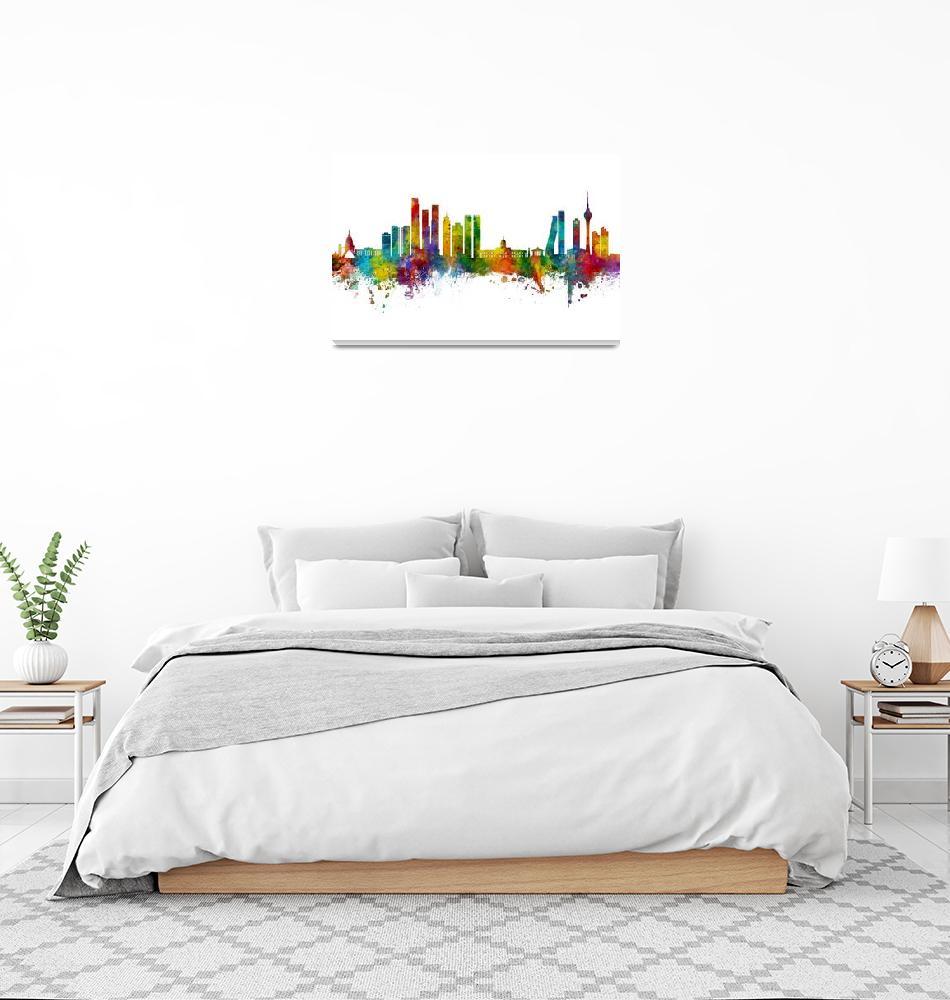 """""""Colombo Sri Lanka Skyline""""  (2020) by ModernArtPrints"""